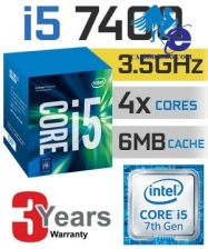 CPU Intel Core i5-7400 3.0 GHz / 6MB / HD 630 Series Graphics / Socket 1151 (Kabylake)