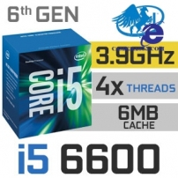 Intel Core i5 6600 6th Generation Skylake Quad-Core 3.3GHz (3.9GHz Turbo)