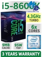 CPU Intel Core i5 8600K 3.6Ghz Turbo Up to 4.3Ghz / 9MB / 6 Cores, 6 Threads / Socket 1151 v2 (Coffee Lake )