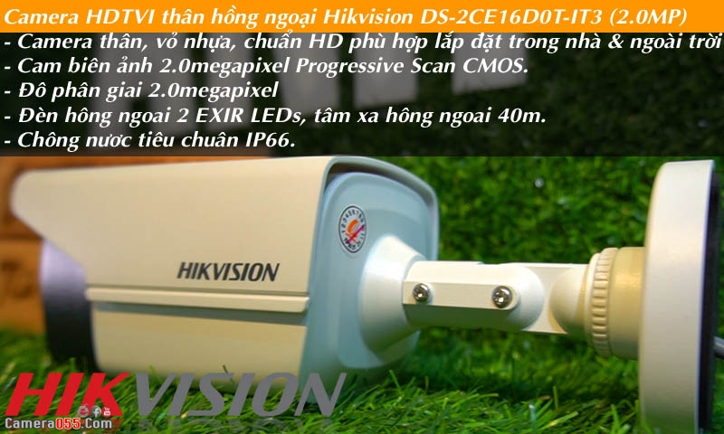 camera hdtvi than hong ngoai hikvision ds 2ce16d0t it3