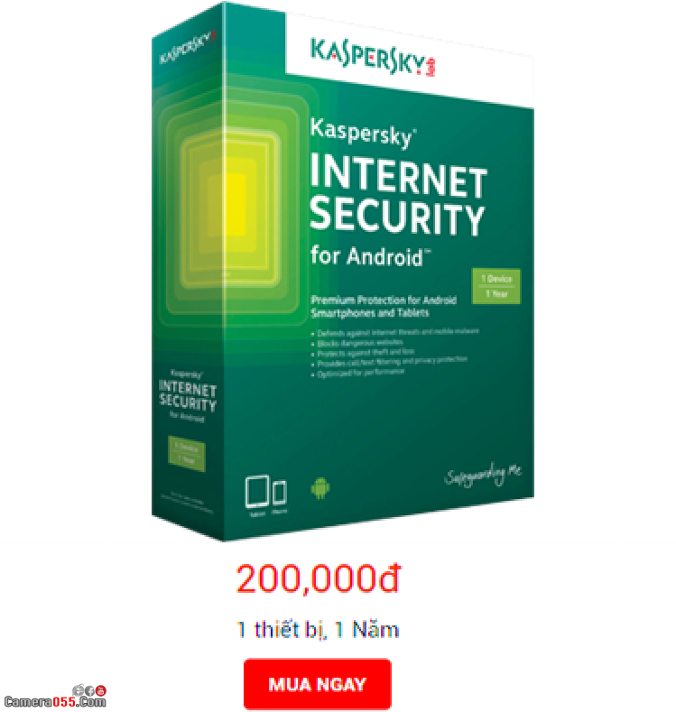 Phần mềm diệt virus bản quyền Kaspersky Internet Security cho Android