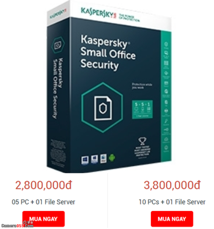 Phần mềm diệt virus bản quyền Kaspersky Small Office Security